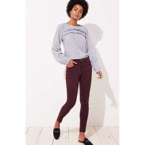 LOFT Women's NWT Petite 5 Pocket Sateen Leggings